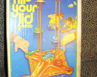 Vintage 1976 FLIP YOUR lid  Ideal Toy Game  In Original Box