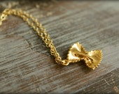 Farfalle Pasta Necklace, Available in Silver and Gold