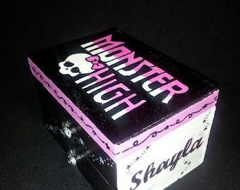Monster High Treasure Box, handpainted, personalized