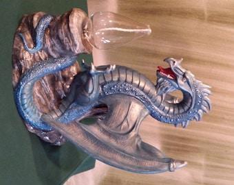 "12"",Dragon of reflection, Doc Holliday, Fantasy, Dragon Lamp,Dragon Oil Burner,Renaissance Dragon,Ready to Paint,Ceramic bisque,U - paint"