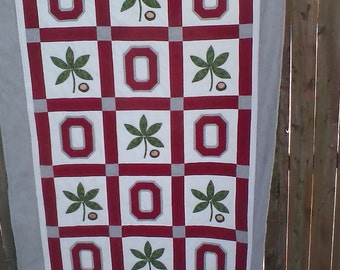 Ohio State (OSU) Buckeye Quilt (Made to Order)