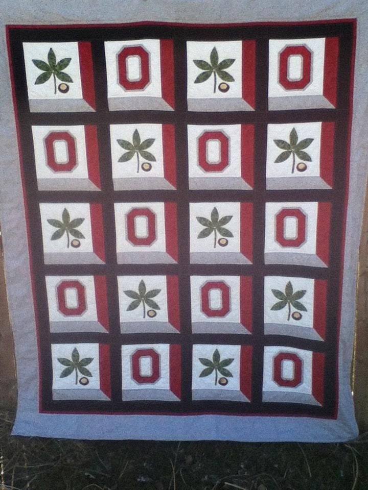 Ohio State Osu Buckeye Quilt Made To Order