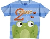 Frog Birthday T Shirt,  Personalized Number T-Shirt, Childrens Clothing
