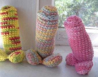 Crocheted Packer/Packing Penis