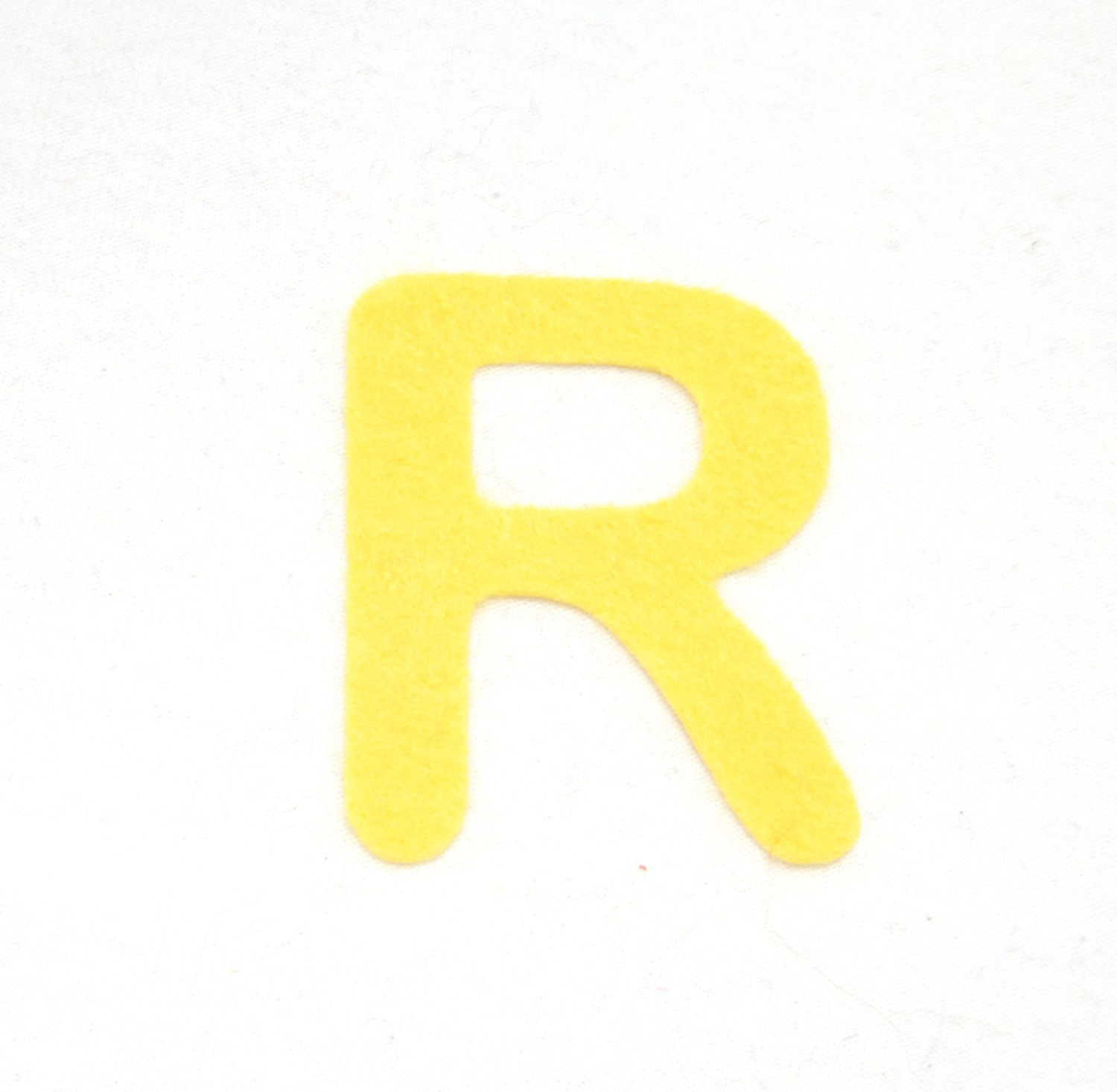 R felt alphabetic letters 2 4 inch iron on choose from for Felt iron on letters for clothing