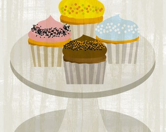 Cupcakes  - Original ILLUSTRATED Printable