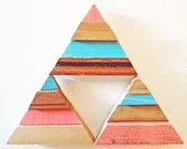 Reclaimed Wood Art -  3 Geometric Art Magnets