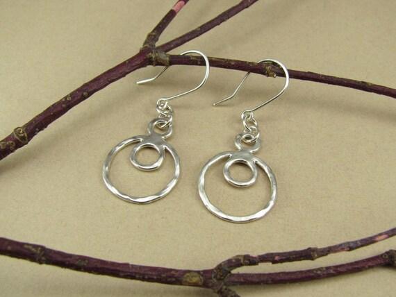 Circular Sterling Silver Earrings
