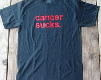 ready-to-ship****CANCER SUCKS. (black) t-shirt --- ready to ship!