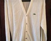 Vintage Izod Lacoste Cardigan Sweater (XL)