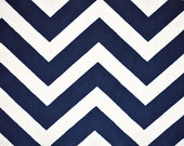 Navy & Ivory Chevron Minky From Shannon Fabrics - Choose Your Cut