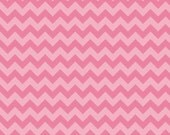 KNIT - Pink Tone on Tone Small Chevron From Riley Blake