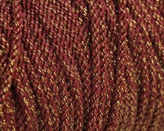 Vintage red & gold rope trim