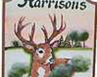 Hunting signs, personalized outdoor signs, deer