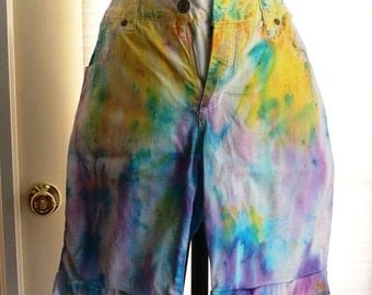 faded glory tie dyed shorts size 12