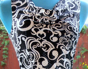 black and white summer dress size small bust 34-36