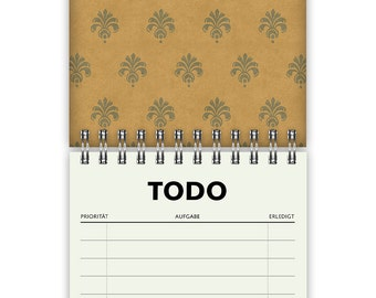 Todo List Pattern A6 60 Pages
