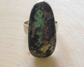 Vintage Sterling Silver Pyrite Ring, Size 11 Unisex