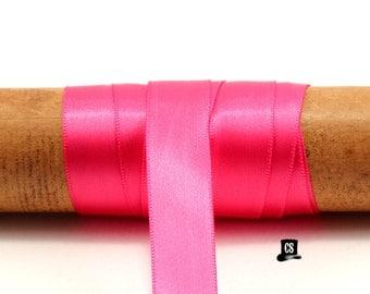 Hot Pink Satin Ribbon - 100 Yards - 5/8 inch - Invitation Making, Wedding, Shower, Favors
