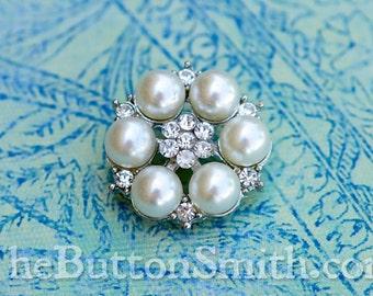 Rhinestone Button - Rebecca - (25mm) RS-061 - 20 piece set
