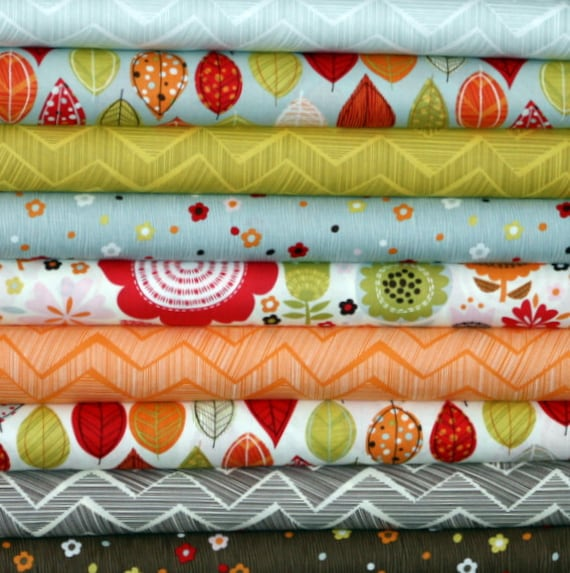 Fabric Bundle for quilt or craft Matilda by Alice Kennedy for Timeless Treasures 9 Half yards