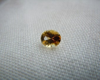 Genuine Montana Sapphire Yellow Orange Oval cut .47 carat Loose Gemstone for Engagement or Jewelry