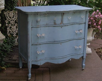 Fabulous CUSTOM ANTIQUE DRESSER Made to Order Your Own Lowboy Chest Bureau Shabby Chic Painted Distressed Restored Antique Bedroom Furniture
