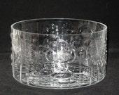 Iittala Finland Oiva Toikka Flora Glass Serving  Bowl - Mid Century Scandinavian Modern - Shallow Rim Flake