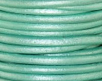 Leather Cord 1.5mm Round - 1 Yard - Turquoise Color - Make Necklaces, Earrings and Bracelets