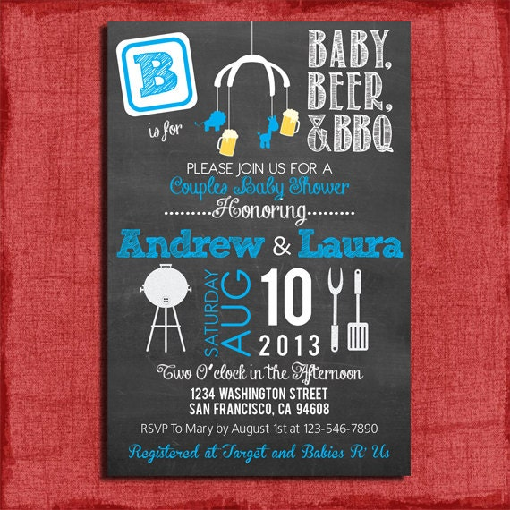 Co Ed Baby Shower Invitations with nice invitations example