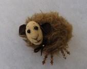 Sheep brooch Animal brooch Mohair sheep brooch Sheep brooch with Swarovski crystals Hand made brooch