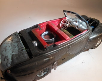 Ford, Scale Model Car, Black with Rust, Classicwrecks ,Back to the Future