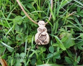 Spirit of Oak Goddess pendant - Gift of the Forest - Green Witch Amulet