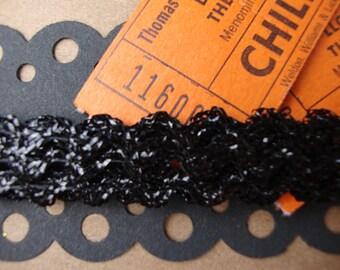 Vintage Black Sparkle Ric Rac