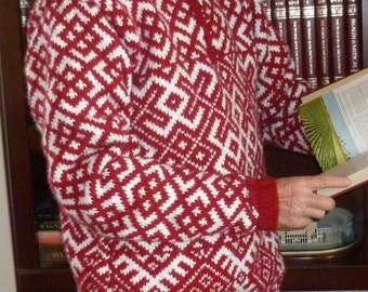 Sweater with a native Russian pattern