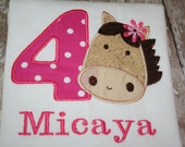 personalized birthday horse shirt