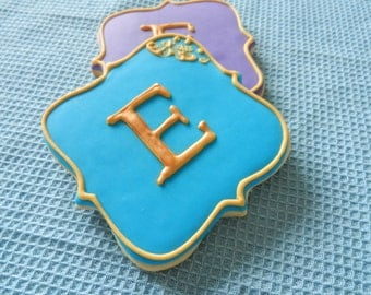 Monogram Hand Decorated Sugar Cookies for weddings, birthdays and other events (#2326)
