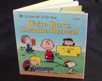 Vintage Children's Book - We're Busy, Charlie Brown - 1988