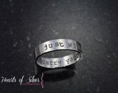 Sterling Silver Hand Stamped Mothers Ring- Personalized Ring- Mommy Jewelry