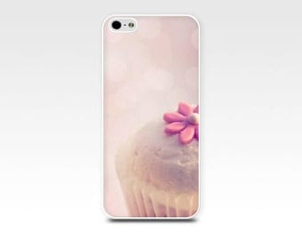 cupcake iphone case 6 4 4s 5 5s case vintage inspired iphone 4s 5 case photography case iphone 5 5s case pastel cute tea party case pink