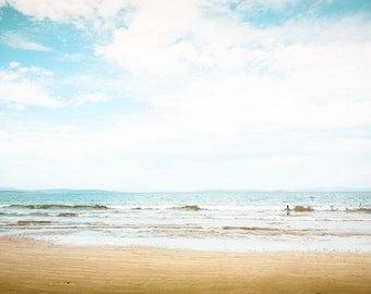 ocean photography beach nautical decor fine art photography 8x10 8x12 coastal prints coastal decor golden teal waves photography summer blu