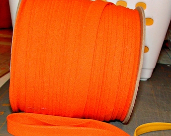 "Orange 1/2"" X-tra wide double fold bias tape 10yds"
