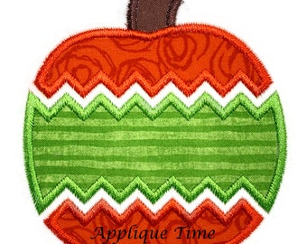 Instant Download Chevron Pumpkin 2 Machine Embroidery Applique Design 4x4, 5x7 and 6x10