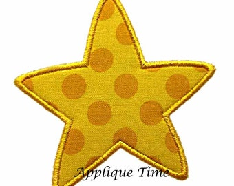 Instant Download Rounded Star Add On Machine Embroidery Applique Design 1, 2, 3 and 4 inch