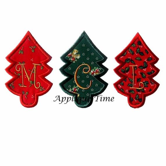 Christmas Tree Trio: Instant Download Christmas Tree Trio Machine Embroidery