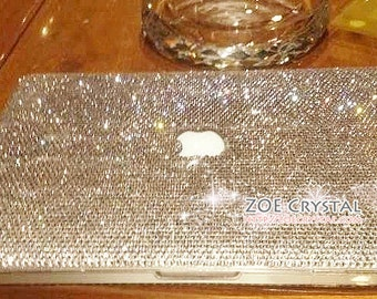Bling and Stylish MACBOOK Case / Cover in CLEAR WHITE Crystals (Air/Pro/Retina) - Optional to Add Name or Words