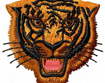 Tiger Machine Embroidery Design - Instant Download