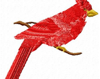 Cardinal Embroidery Design - Instant Download