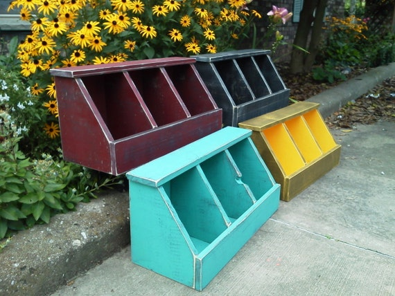 Countertop Vegetable Bin : ... Distressed Vegetable Fruit Bin Countertop Pine Painted on Etsy