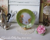 Rose Meadow Plate for Dollhouse